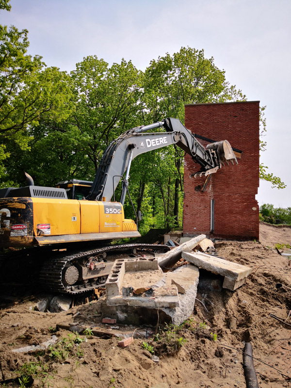 Residential Demoltion Project in West Michigan by Melching Demolition